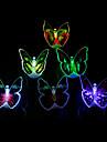 lysande färgglada ledde fjäril ljus (slumpmässiga färger)