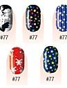 yemannvyou®28pcs 3d ultra-mince couverture complète ongles autocollants s1 série n ° 3 (couleurs assorties)