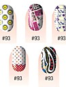 yemannvyou®28pcs 3d ultra-mince couverture complète ongles autocollants s1 série n ° 2 (couleurs assorties)
