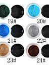 1PCS Velvet Nail Art Dekorationer No.19-24 (8ml, blandade färger)