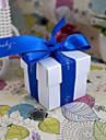 24 Piesă/Set Favor Holder-În Formă de Cub Hârtie perlă Cutii de Savoare Nepersonalizat