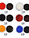 1PCS Velvet Nail Art Dekorationer No.1-6 (8 ml, blandade färger)
