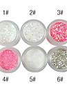 1PCS brillaient Powder Nail Décorations (couleurs assorties)