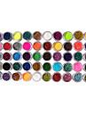 50 Färger Glitter Nail Art Dekorationer