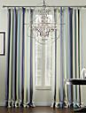 medelhavs två paneler band flerfärgade vardagsrum polyester panelgardiner draperier
