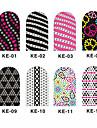 12PCS 3D Full-täcka Nail Art Stickers Spot Series (No.1, Assorted Color)
