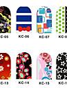 12PCS 3D Full-täcka Nail Art Stickers Flash Powder Flower Series (No.2, Assorted Color)