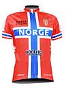 kooplus Maillot Cyclisme Vélo manches courtes Homme motif de Norge 100% polyester de 2015 hommes respirant