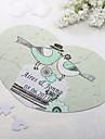 Personalizat in forma de inima Jigsaw Puzzle - păsări dragoste