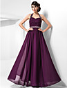 TS Couture Formal Evening / Prom / Military Ball Dress - Grape Plus Sizes / Petite Sheath/Column Halter / Sweetheart Floor-length Chiffon