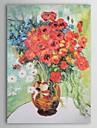 handgemalten Ölgemälde Vase mit Margeriten und Mohnblumen Vincent van.gogh mit gestreckten Rahmen