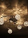 60W Konstnärlig modern taklampa med sex lampor och sex globformade lampskärmar i väderkvarnsstil