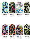 12PCS 3D Full-couvrir Nail Art Stickers Series Noctilucent (n ° 4, couleurs assorties)