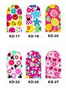 12PCS 3D Full-täcka Nail Art Stickers Cartoon Series (No.3, Assorted Color)