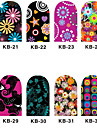 12PCS 3D Full-täcka Nail Art Stickers Cartoon Flower Series (NO.4, Assorted Color)