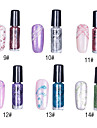 1PCS Glitter Nail Art Top Coat dekorativ polska No.9-14 (7 ml, blandade färger)