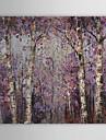 Peint à la main A fleurs/BotaniquePastoral Un Panneau Toile Peinture à l'huile Hang-peint For Décoration d'intérieur