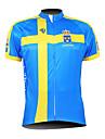 KOOPLUS® Cykeltröja Herr Kort ärm Cykel Andningsfunktion / Vattentät dragkedja / Dragkedja fram / Bärbar Tröja / Överdelar 100% Polyester
