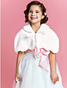 Kids' Wraps / Fur Wraps Capelets Sleeveless Faux Fur Ivory Wedding / Party/Evening Lace-up Yes