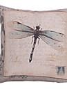 Land Dragonfly Bomull / Lin dekorationskudde Cover