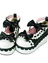 Chaussures Doux Fait à la Main Hauteur de semelle compensée Chaussures Nœud papillon 7 CM Rouge / Noir / Jaune Pour FemmeCuir PU/Cuir