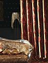Deux Panneaux Le traitement de fenêtre Européen Néoclassique Chambre à coucher Polyester Matériel Rideaux Tentures Décoration d'intérieur