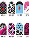 12PCS 3D Full-couvrir Nail Art Stickers Cartoon Spot Les Séries (n ° 4, couleurs assorties)