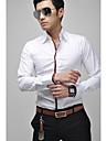 Slim camasa cu maneci lungi pentru bărbați cu detalii de conducte
