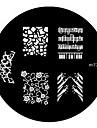 4ST Nail Art Stamp Stamping Avbildar mallen Plate M Series No.1