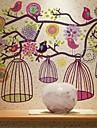 Oiseaux fleur colorée Wall Sticker