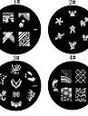 1PCS Nail Art Stamp Stamping Avbildar mallen Plate M Serie NO.3 (blandade färger)