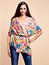 färgstarka voile med mönster slitage dagligen halsduk / sjal (fler färger)