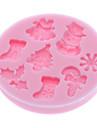 Baking Mold Cartoon forme Pour Gâteau / Pour Cookie / Pour Pie Silikon Ecologique / Noël / Bricolage / 3D