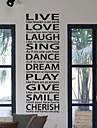 Levande förälskelseklistermärke Laugh Vägg