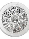 yemannvyou®240pcs 1.5mm-3mm nail art argent des formes mixtes de strass acrylique