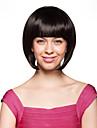 Capless korta högkvalitativ syntetisk svart bob styla håret peruk