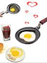 coeur en forme de poêle omelette