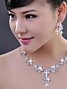 Set bijuterii Pentru femei Nuntă / Logodnă / Ocazie specială Set Bijuterii Aliaj Cristal Σκουλαρίκια / Coliere Ca în Poză
