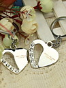 Personalized Heart Theme Keyrings (Set of 4)