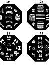 1PCS Nail Art Stamp Stamping Avbildar mallen Plate M Series NO.6 (blandade färger)