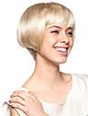 senza cappuccio corto di alta qualità sintetico biondo chiaro bob capelli parrucca stile (0463-lpp654)