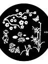 4pcs Nail Art Stamping Timbre Image de tasse Plate M Series NO.2