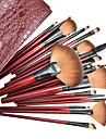 22pcs cosmétiques professionnels pinceau de maquillage ensemble avec le sac en cuir de mode