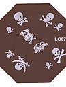 Nail Art Stamping Timbre Image de tasse Plate L Series No.7-No.13 (couleurs assorties)