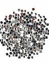 1000st fyrkantiga Rhinestone nagel konst Decoration 2mm Transparent