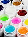 12st glitter tindrade uv färg gel & snabbtorkande rengöringsmedel polish