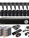 Ultra 16CH D1 realtid H.264 CCTV DVR Kit (16 420TVL utomhus och inomhus Night Vision CMOS-kameror)