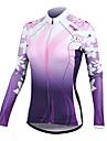 Santic - långärmad cykeltröja till dam, bra som solskydd C01025 (100 % polyester, lila)