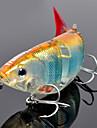 1 pcs Poissons nageur/Leurre dur Fretin leurres de pêche Fretin Poissons nageur/Leurre dur Vert Orange Jaune Bleu Couleurs Aléatoires 27 g