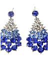 Cercei Picătură imitație de diamant Aliaj Picătură Alb Albastru Bijuterii Petrecere Zilnic
